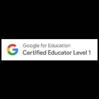 Badge for Google Certified Teacher Level 1