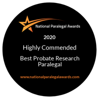 National Paralegal Awards Finalist