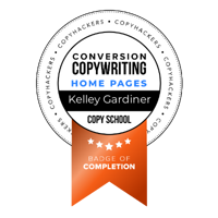 Copyhackers Conversion Copywriting badge of completion for Home Pages