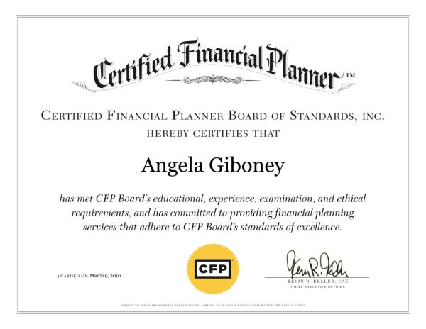CFP Certificate