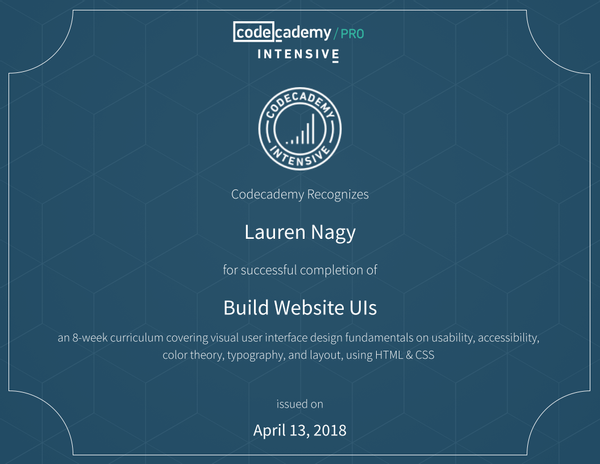 codecademy credential