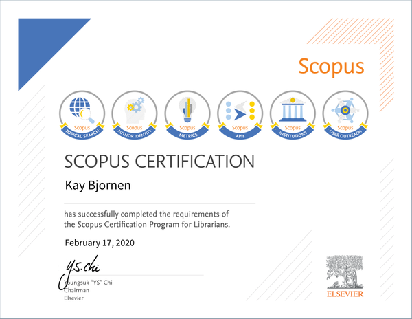 Scopus Certification for Librarians