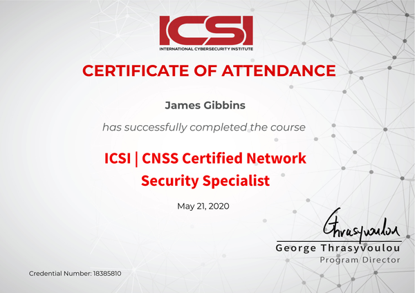 ICSI CNSS Certified Network Security Specialist