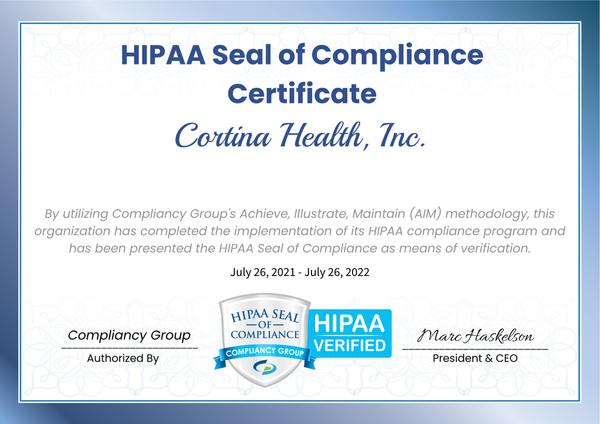 HIPAA Seal of Compliance