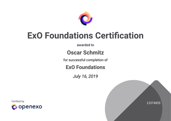 OpenEXO Advisor Foundation Certification