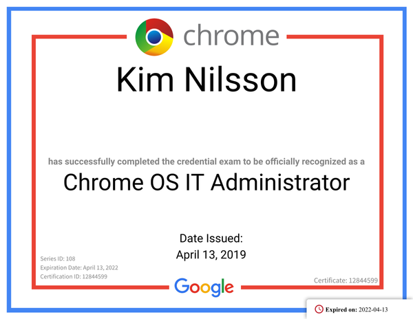 Chrome OS It Administrator