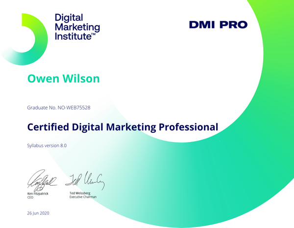 Certified digital marketing profesional