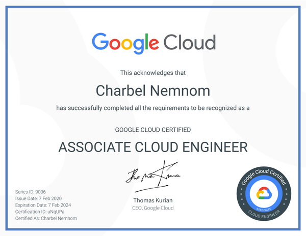 Google Cloud Certified - Associate Cloud Engineer