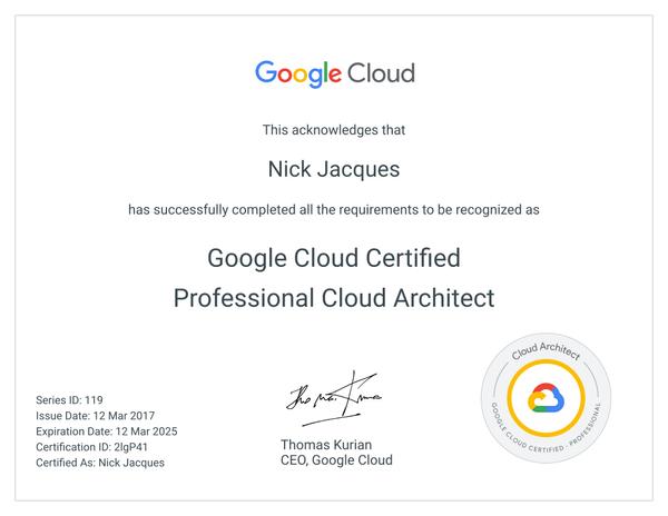 Google Certified Professional Cloud Architect